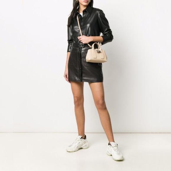 Longchamp Roseau Mini Leather Crossbody Bag